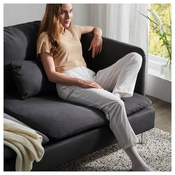 SÖDERHAMN 3-seat sofa, with open end/Samsta dark grey