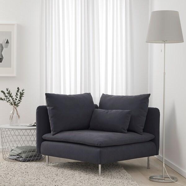 SÖDERHAMN Corner section, Samsta dark grey