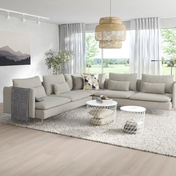 SÖDERHAMN Corner sofa, 6-seat - Viarp beige/brown - IKEA