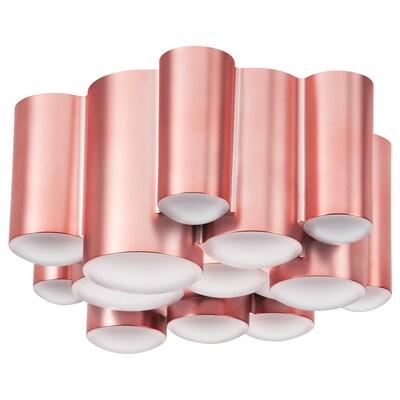 SÖDERSVIK LED ceiling lamp, pink/matt, 21 cm