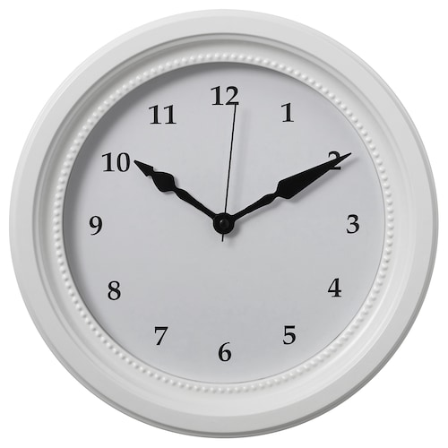 SÖNDRUM wall clock white 35 cm 6 cm