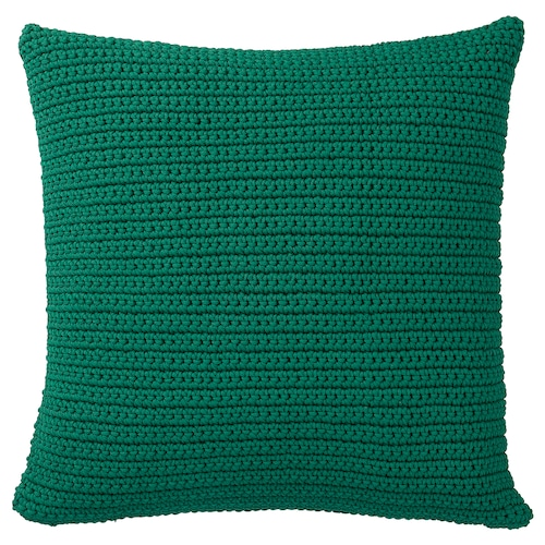 SÖTHOLMEN cushion cover, in/outdoor dark green 50 cm 50 cm