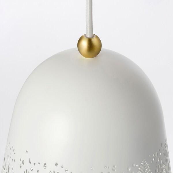SOLSKUR Pendant lamp, white/brass-colour