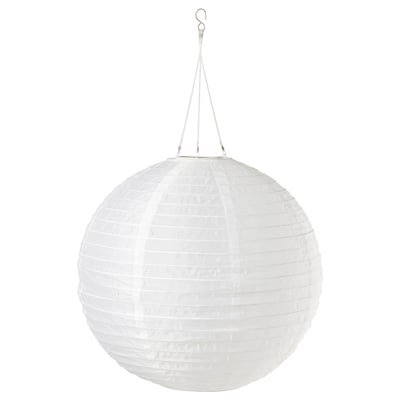 SOLVINDEN LED solar-powered pendant lamp, outdoor/globe white, 45 cm