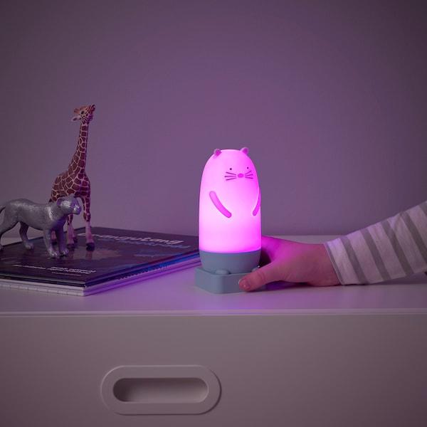 SPIKEN LED night light, otter-shaped battery-operated/multicolour, 15 cm