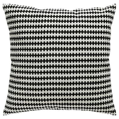 STOCKHOLM وسادة, أسود/ أبيض, 50x50 سم