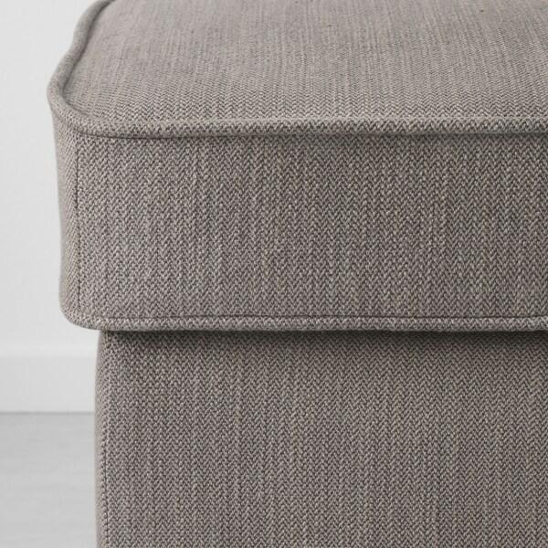 STOCKSUND Bench, Nolhaga grey-beige/light brown/wood