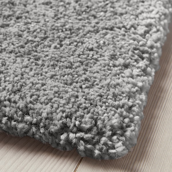 STOENSE Rug, low pile, medium grey, 80x150 cm