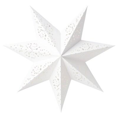 STRÅLA غطاء مصباح, مخرمات/أبيض, 48 سم