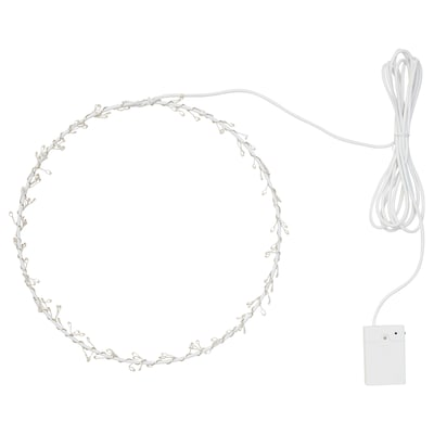 STRÅLA LED pendant lamp, battery-operated ring shaped/flashing