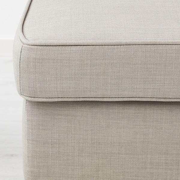 STRANDMON Footstool, Skiftebo light beige