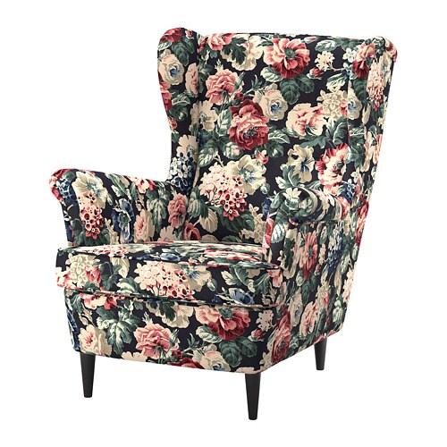 Strandmon Wing Chair Lingbo Multicolour Ikea