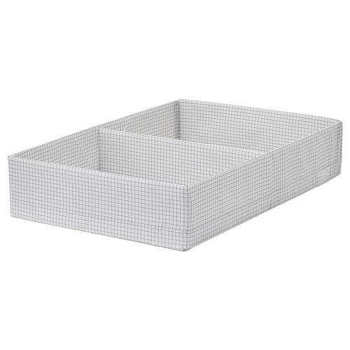STUK box with compartments white/grey 34 cm 51 cm 10 cm
