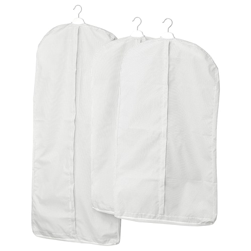 STUK clothes cover, set of 3 white/grey