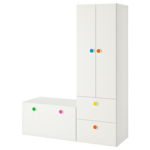 STUVA / FÖLJA storage combination with bench white 150 cm 50 cm 192 cm