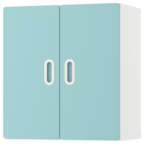 STUVA / FRITIDS wall cabinet white/light blue 60 cm 30 cm 64 cm