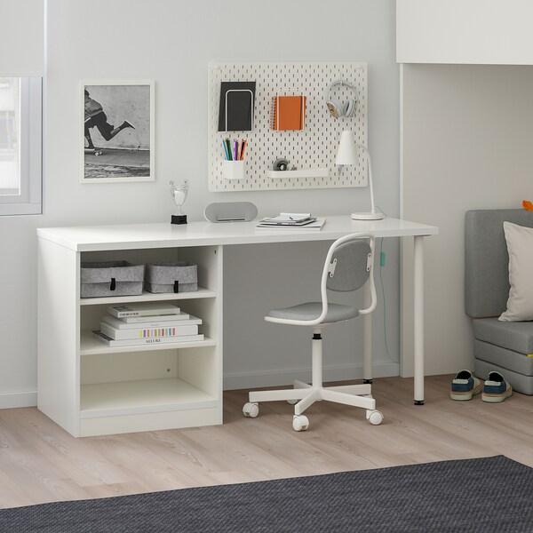 STUVA Loft bed combo w 2 shlvs/3 shlvs, white, 90x200 cm