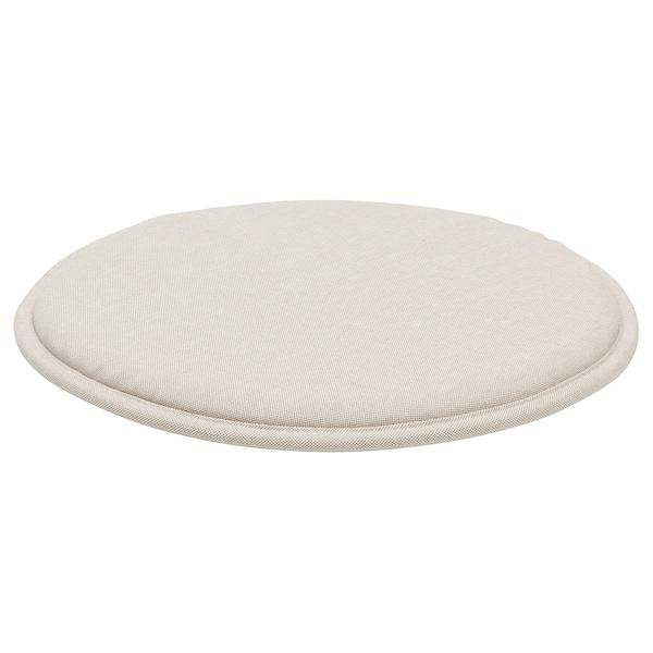 SUNNEA Chair pad, Lofallet beige, 36x2.5 cm