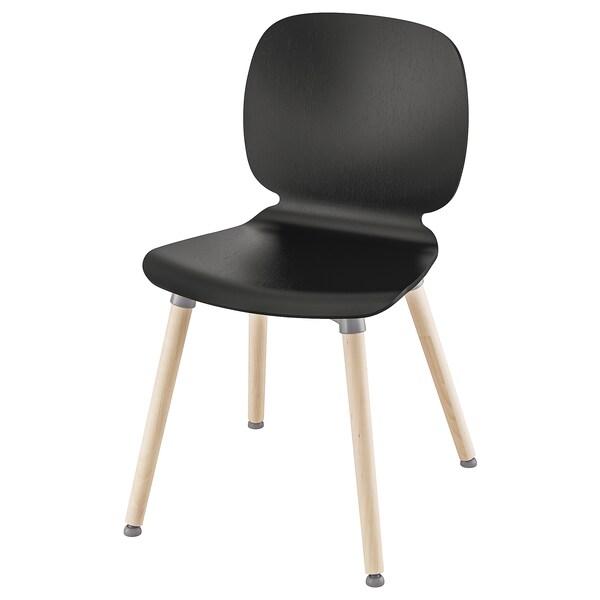 SVENBERTIL كرسي, أسود/Ernfrid بتولا