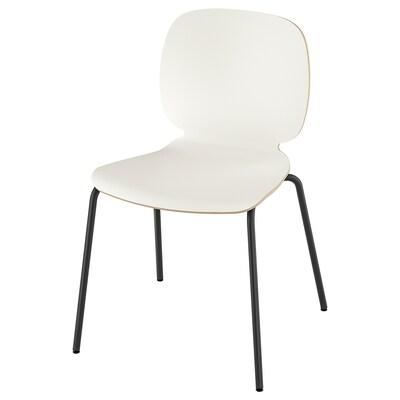 SVENBERTIL كرسي, أبيض/Broringe أسود