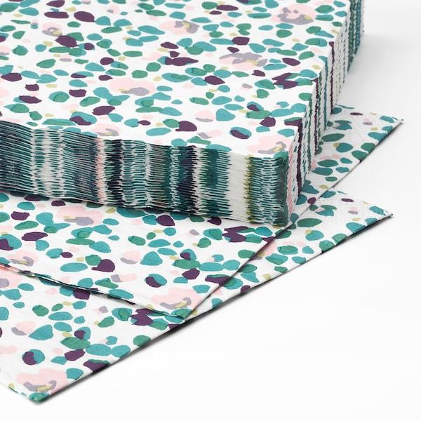 TACKSAMHET مناديل ورقية, منقوش/عدة ألوان, 33x33 سم
