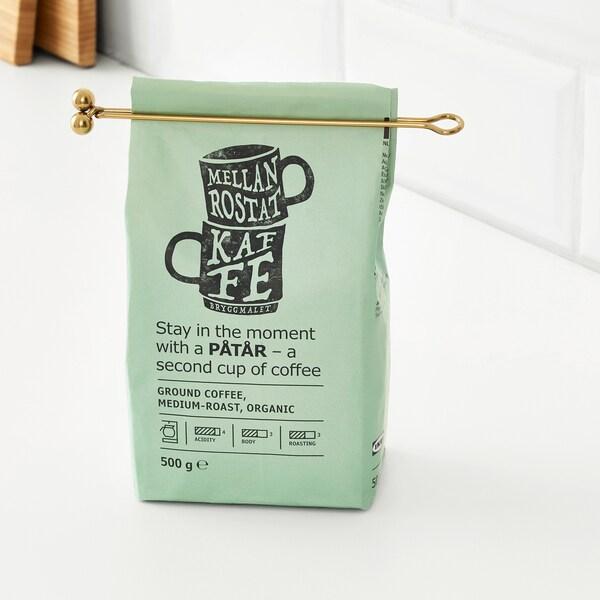 TEMPERERAD Coffee measure and clip, brass