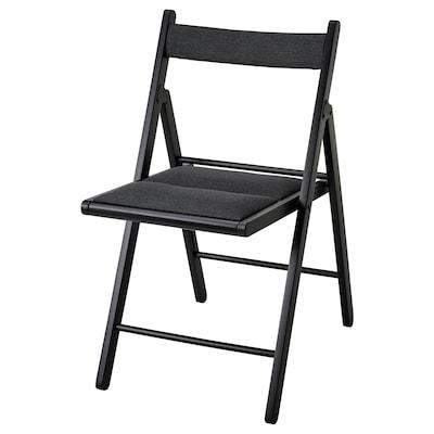 TERJE Folding chair, black/Knisa dark grey