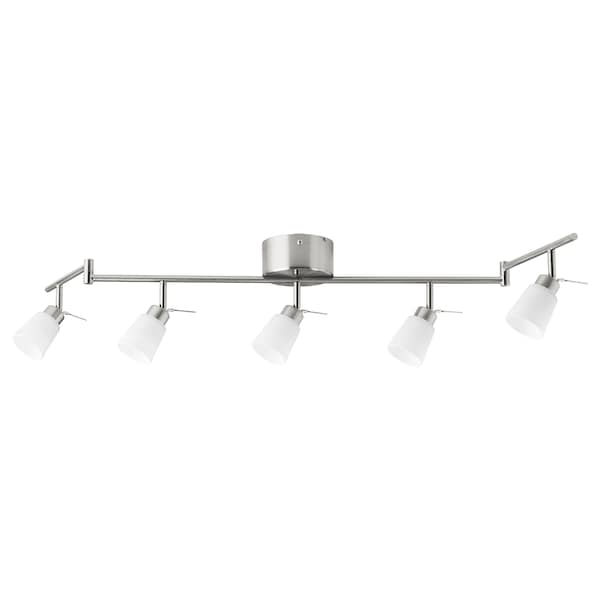 TIDIG Ceiling spotlight with 5 spots, nickel-plated