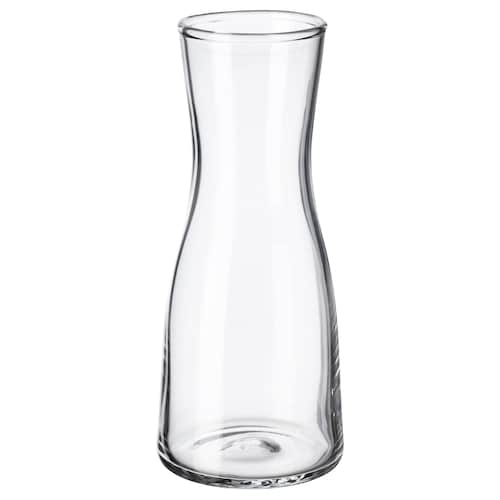 TIDVATTEN vase clear glass 14 cm