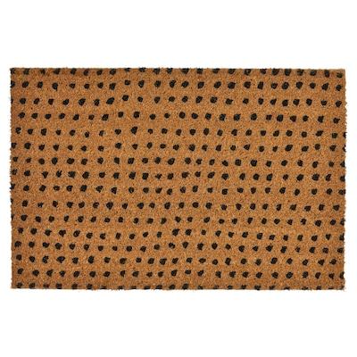 TINDBÄK دعاسة باب، داخلية, طبيعي/أسود, 40x60 سم