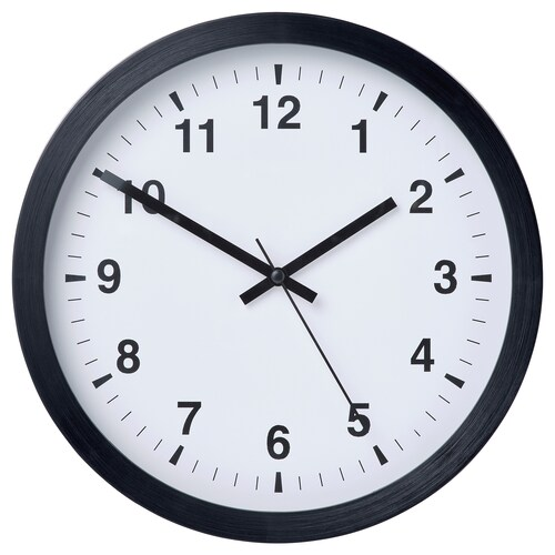 TJALLA wall clock black 28 cm 4 cm