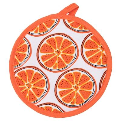 TORVFLY حامل قدر, منقوش/برتقالي