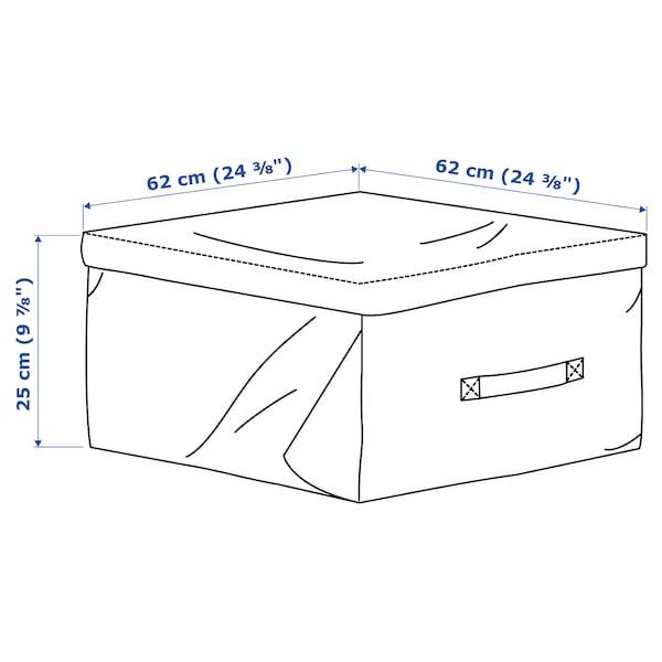 TOSTERÖ storage bag for cushions black 62 cm 62 cm 25 cm