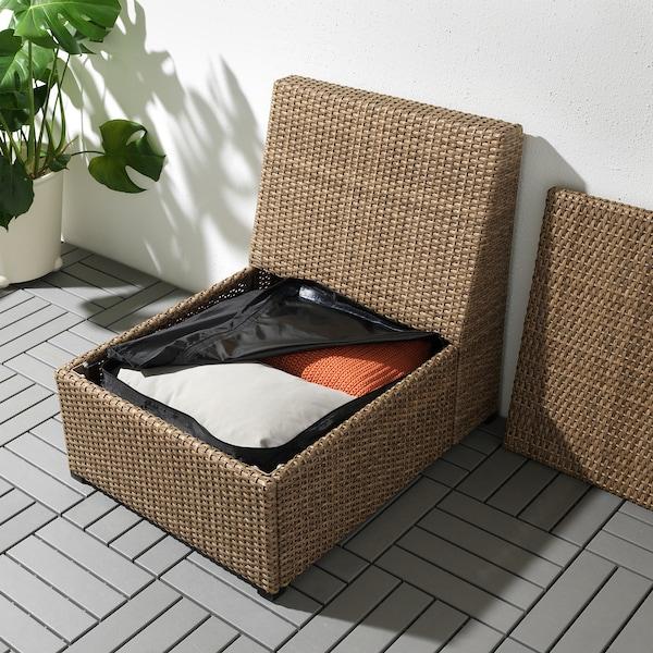 TOSTERÖ Storage bag for cushions, black, 62x62 cm