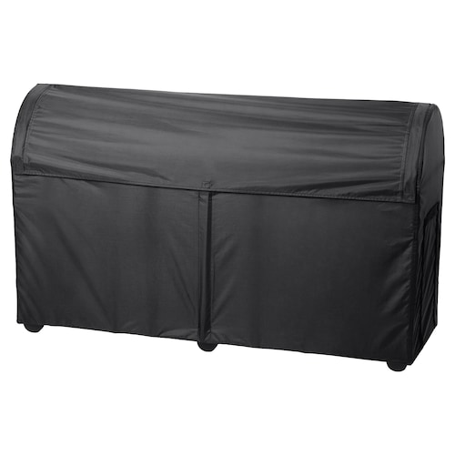 TOSTERÖ storage box, outdoor black 129 cm 44 cm 79 cm