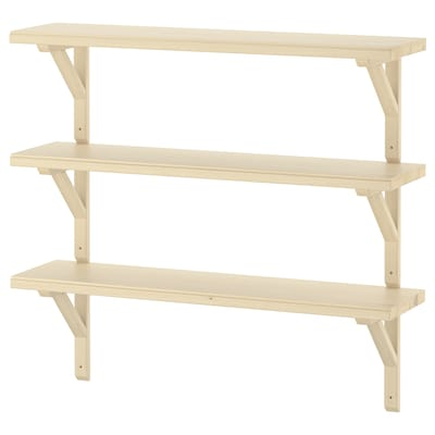 TRANHULT / SANDSHULT Wall shelf combination, aspen, 80x20 cm