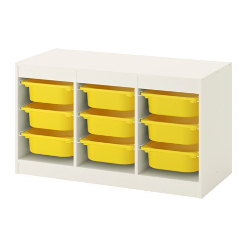 Trofast storage combination white yellow ikea - Meuble trofast ikea occasion ...