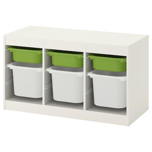TROFAST storage combination white/green 99 cm 44 cm 56 cm