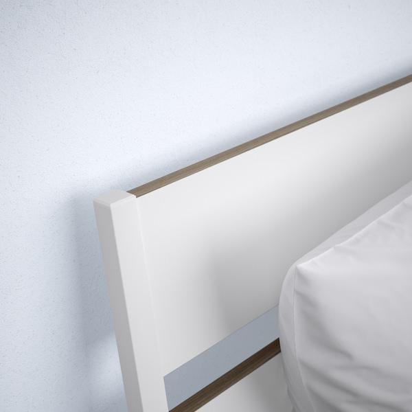TRYSIL Bed frame, white/light grey, 140x200 cm