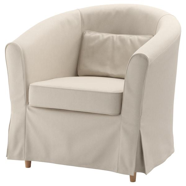 TULLSTA Armchair cover, Lofallet beige