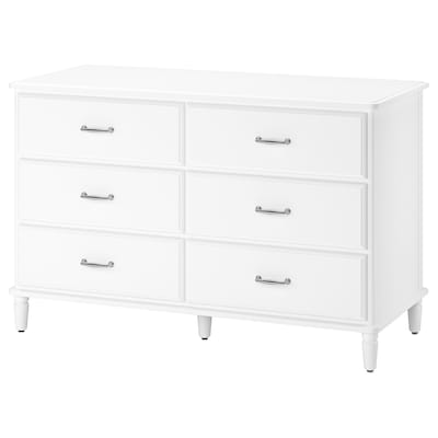 TYSSEDAL Chest of 6 drawers, white, 127x81 cm