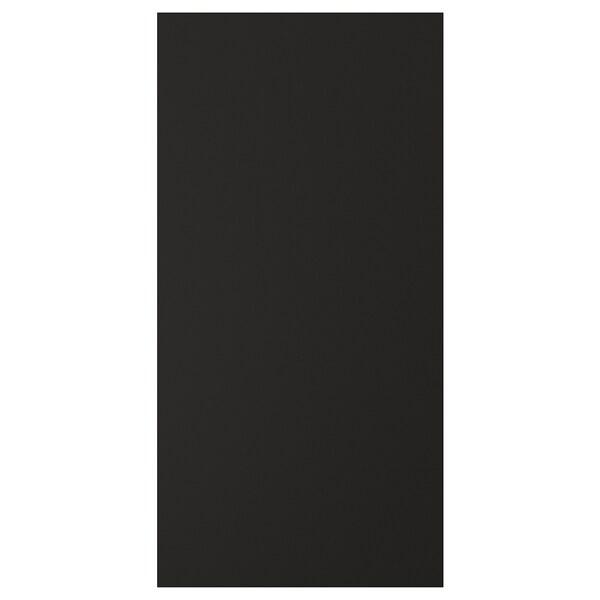 UDDEVALLA باب مع سطح لوحي أسود, فحمي, 40x80 سم