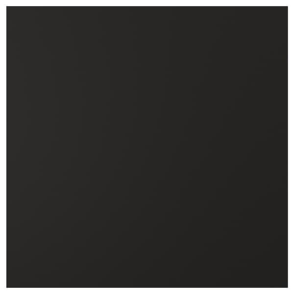 UDDEVALLA باب مع سطح لوحي أسود, فحمي, 60x60 سم