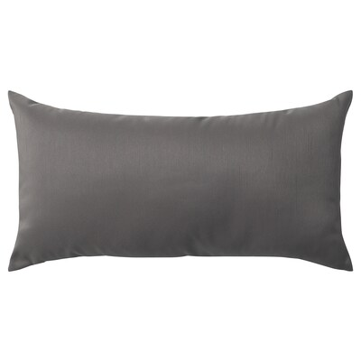 ULLKAKTUS Cushion, dark grey, 30x58 cm