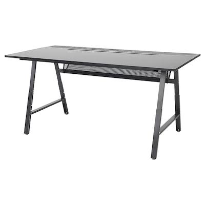 UTESPELARE Gaming desk, black