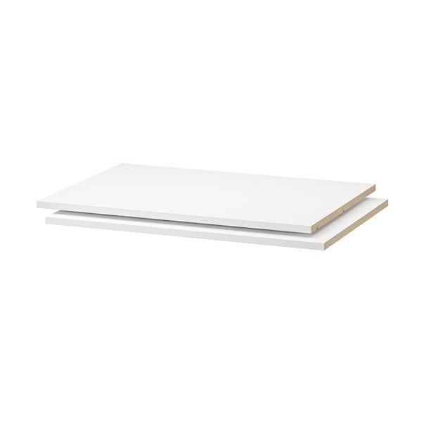 UTRUSTA shelf white 76.4 cm 80 cm 57.5 cm 60 cm 1.8 cm 40 kg 2 pack