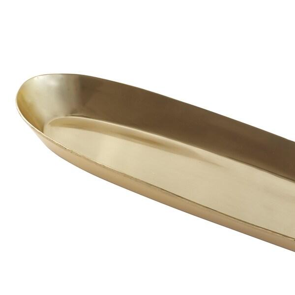 UTVÄNDIG صحن شمع, لون نحاسي, 50x15 سم