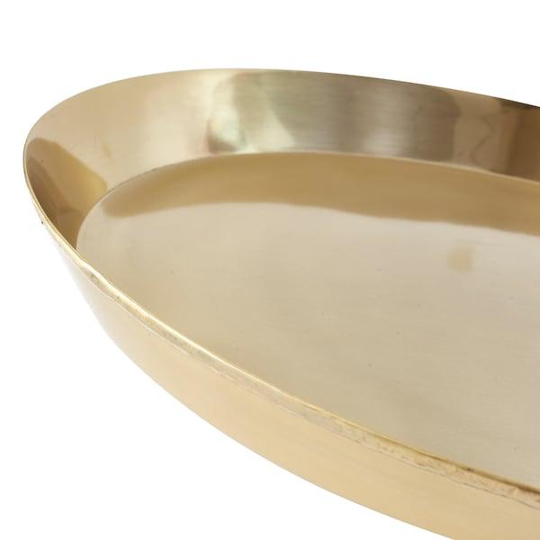 UTVÄNDIG candle dish brass-colour 4 cm 40 cm