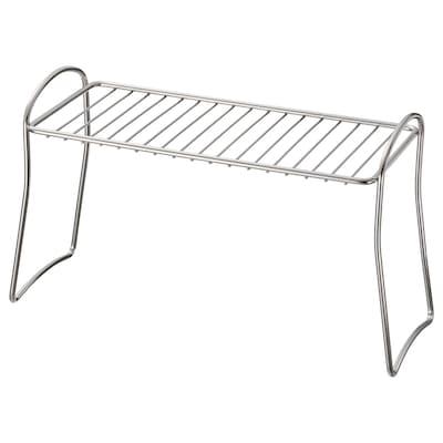 VÄLVÅRDAD Dish drying shelf, stainless steel, 13x32 cm