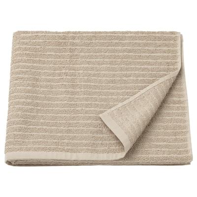 VÅGSJÖN Bath towel, beige, 70x140 cm